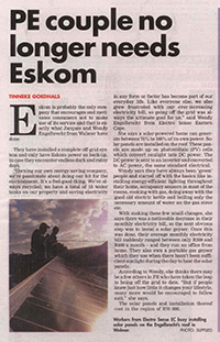 Pe Couple No Longer Needs Eskom Quality Demand Management